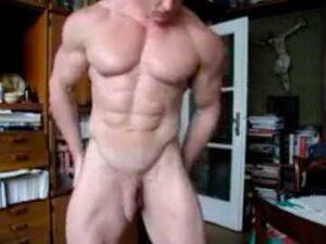 Hetero Bodybuilder Nude Flexing Webcam